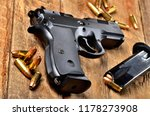 9mm pistol  bullets and...   Shutterstock . vector #1178273908