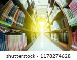 the blurry image of library at... | Shutterstock . vector #1178274628