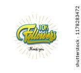 thank you 10000 followers... | Shutterstock . vector #1178283472