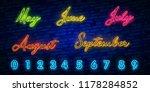 set of neon symbol for month... | Shutterstock .eps vector #1178284852