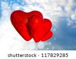 three red hearts | Shutterstock . vector #117829285
