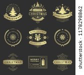 christmas labels and badges... | Shutterstock .eps vector #1178298862