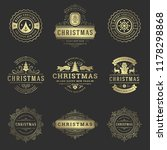christmas labels and badges... | Shutterstock .eps vector #1178298868