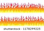 cartoon fire flame frame...   Shutterstock .eps vector #1178299225