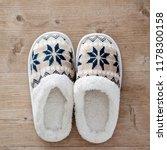 slippers on wooden floor.soft... | Shutterstock . vector #1178300158