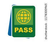 passport and ticket icon  ... | Shutterstock .eps vector #1178300965