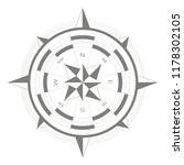 vector icon with compass rose... | Shutterstock .eps vector #1178302105