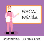 writing note showing fiscal... | Shutterstock . vector #1178311705
