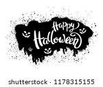 happy halloween template for... | Shutterstock .eps vector #1178315155