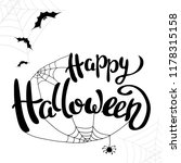 happy halloween template for... | Shutterstock .eps vector #1178315158