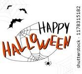 happy halloween template for... | Shutterstock .eps vector #1178315182