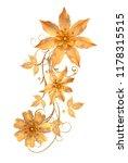 3d rendering. golden stylized... | Shutterstock . vector #1178315515