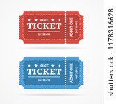 ticket icon blank admit set... | Shutterstock . vector #1178316628
