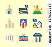 landmark vector icons set... | Shutterstock .eps vector #1178322115