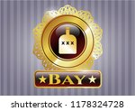 shiny badge with bottle of...   Shutterstock .eps vector #1178324728