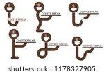 six symbols for a coffee break | Shutterstock .eps vector #1178327905