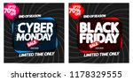black friday sale and cyber... | Shutterstock .eps vector #1178329555