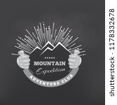 mountains or peak logo emblem.... | Shutterstock .eps vector #1178332678
