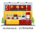 interior scene of modern fast... | Shutterstock .eps vector #1178336968