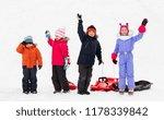 childhood  sledging and season... | Shutterstock . vector #1178339842