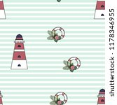 marine seamless pattern with a... | Shutterstock .eps vector #1178346955
