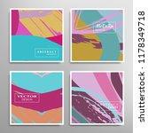 creative artistic backgrounds...   Shutterstock .eps vector #1178349718
