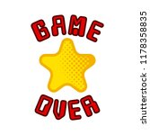 game over concept image | Shutterstock .eps vector #1178358835
