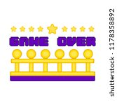 game over concept image | Shutterstock .eps vector #1178358892