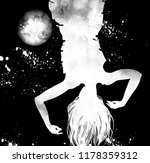 a girl drowned in space in... | Shutterstock . vector #1178359312