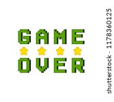 game over concept image | Shutterstock .eps vector #1178360125