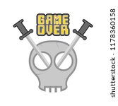 game over concept image | Shutterstock .eps vector #1178360158