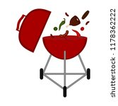 isolated barbecue grill icon | Shutterstock .eps vector #1178362222