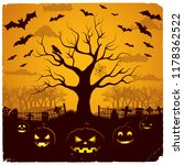 halloween evening design with... | Shutterstock .eps vector #1178362522
