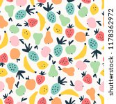 seamless cute pattern with... | Shutterstock .eps vector #1178362972