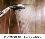 shower head and the running... | Shutterstock . vector #1178363092