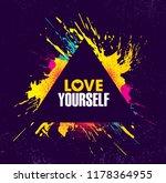 love yourself. inspiring...   Shutterstock .eps vector #1178364955