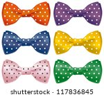 a set of polka dot bow ties. | Shutterstock .eps vector #117836845