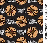 halloween seamless pattern with ... | Shutterstock .eps vector #1178371735