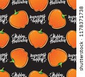halloween seamless pattern with ... | Shutterstock .eps vector #1178371738