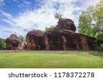 sandstone in a lion shape with... | Shutterstock . vector #1178372278