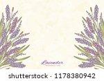 engraved lavender flowers on...   Shutterstock .eps vector #1178380942