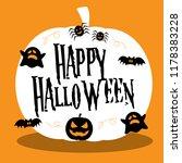 happy halloween illustration... | Shutterstock .eps vector #1178383228