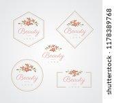 beauty flower logo | Shutterstock .eps vector #1178389768