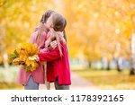 adorable little girls outdoors... | Shutterstock . vector #1178392165