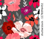 pink and grey floral... | Shutterstock .eps vector #1178396452
