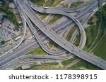 aerial view of highway and...   Shutterstock . vector #1178398915