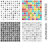 100 pointers icons set in 4... | Shutterstock . vector #1178403322