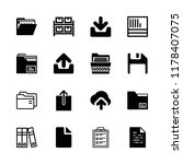 file icons set with clipboard ... | Shutterstock .eps vector #1178407075