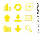 graph icons set with inclined... | Shutterstock .eps vector #1178407105