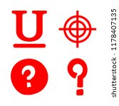 mark icons set with question... | Shutterstock .eps vector #1178407135